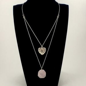 Lucky Brand Necklace Double Chain + Pendants
